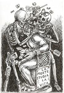 La Morte studia la Vita 16.5x24