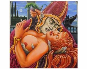 GOTHIC KISS 60x60