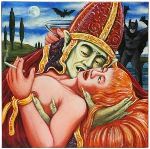op.101.Gothic Kiss.40x40