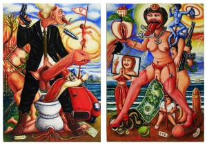 Adam & Eve - each 50x70