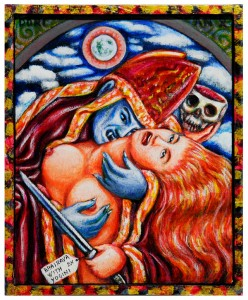 Gothic Bhairava with Yoghini 19x23