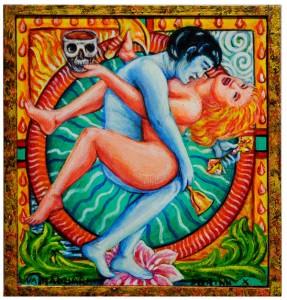 Vajradhara in Yab yum 19x20